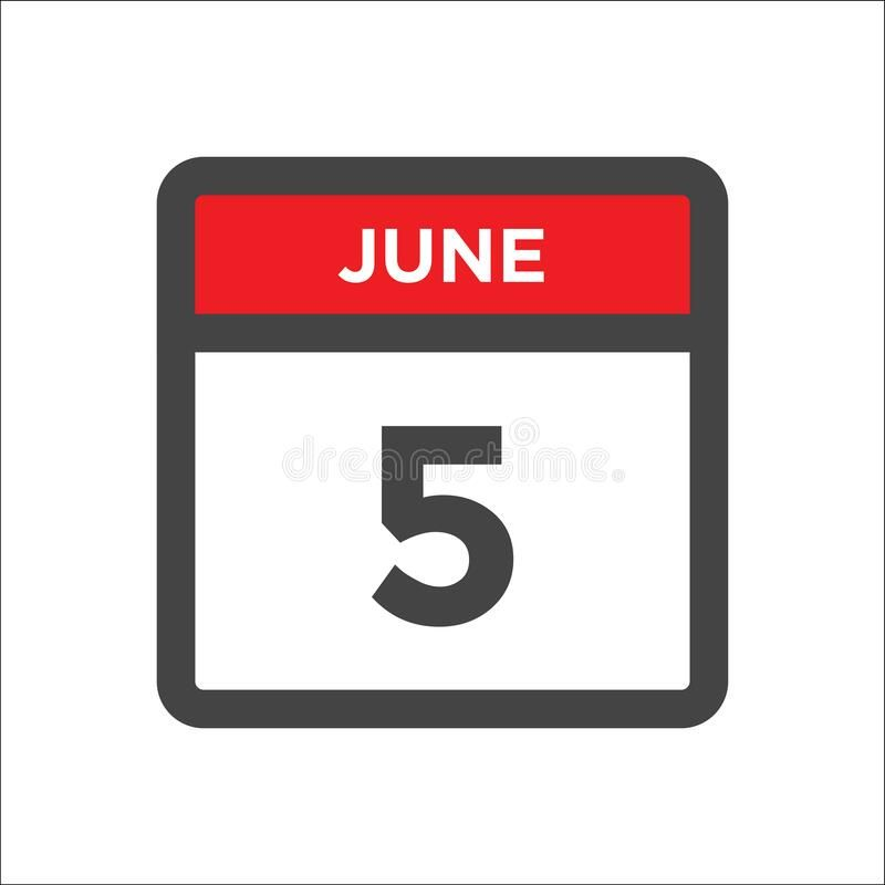 June 5 Calendar Icon With Day Of Month June 5 Calendar Icon Day Of Month Sponsored Paid Sponsored June Day Icon In 2020 Calendar Icon Day July Calendar