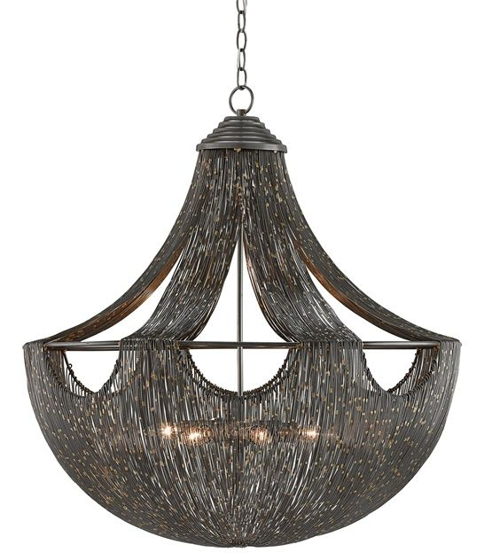 Eduardo Chandelier By Currey And Company 9000 0018 Cc Wire Chandelier Ceiling Lights Chandelier