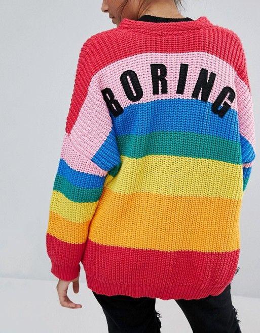 Lazy Oaf Rainbow Cardigan En 2018 Strawberry Pinterest Moda