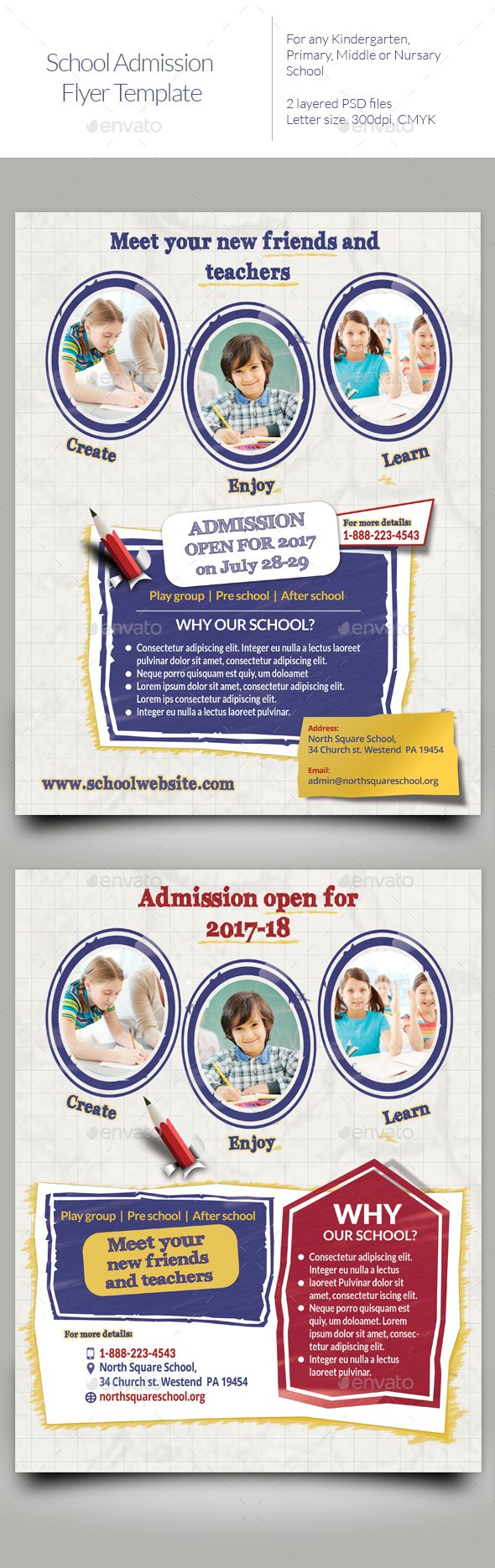 school admission flyer templates flyer template flyers and psd buy school admission flyer templates by geon on graphicriver best photoshop flyer template perfect for kindergarten daycare preschool school that needs