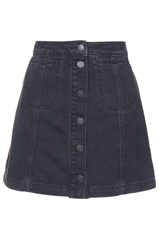 6169986c8 MOTO Black Button Front Skirt in 2019 | etek | Button front skirt ...