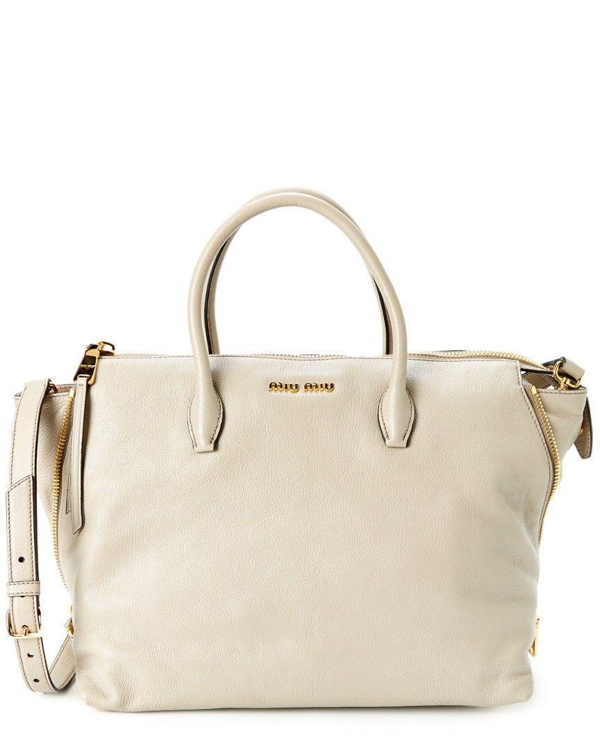 Miu Miu Madras Large Leather Satchel White   My Bag   Pinterest ... 62ef828947