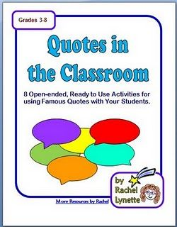 Eight Free Famous Quotes Worksheets!