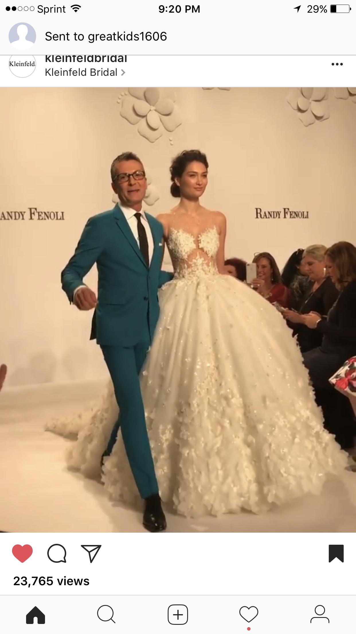Randy fenoli first wedding dress collection runway romantic