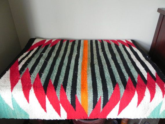 Obsessed with this Vintage Navajo saddle blanket rug textile southwest native american indian
