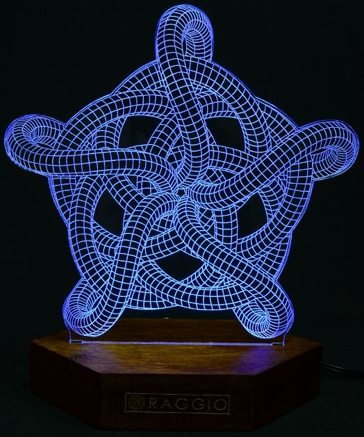 laser engraved acrylic led lamp | RAGGIO led lamps | Laser cut lamps