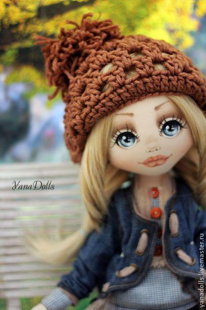 Andrea - коричневый,кукла,кукла ручной работы,кукла в подарок,кукла интерьерная