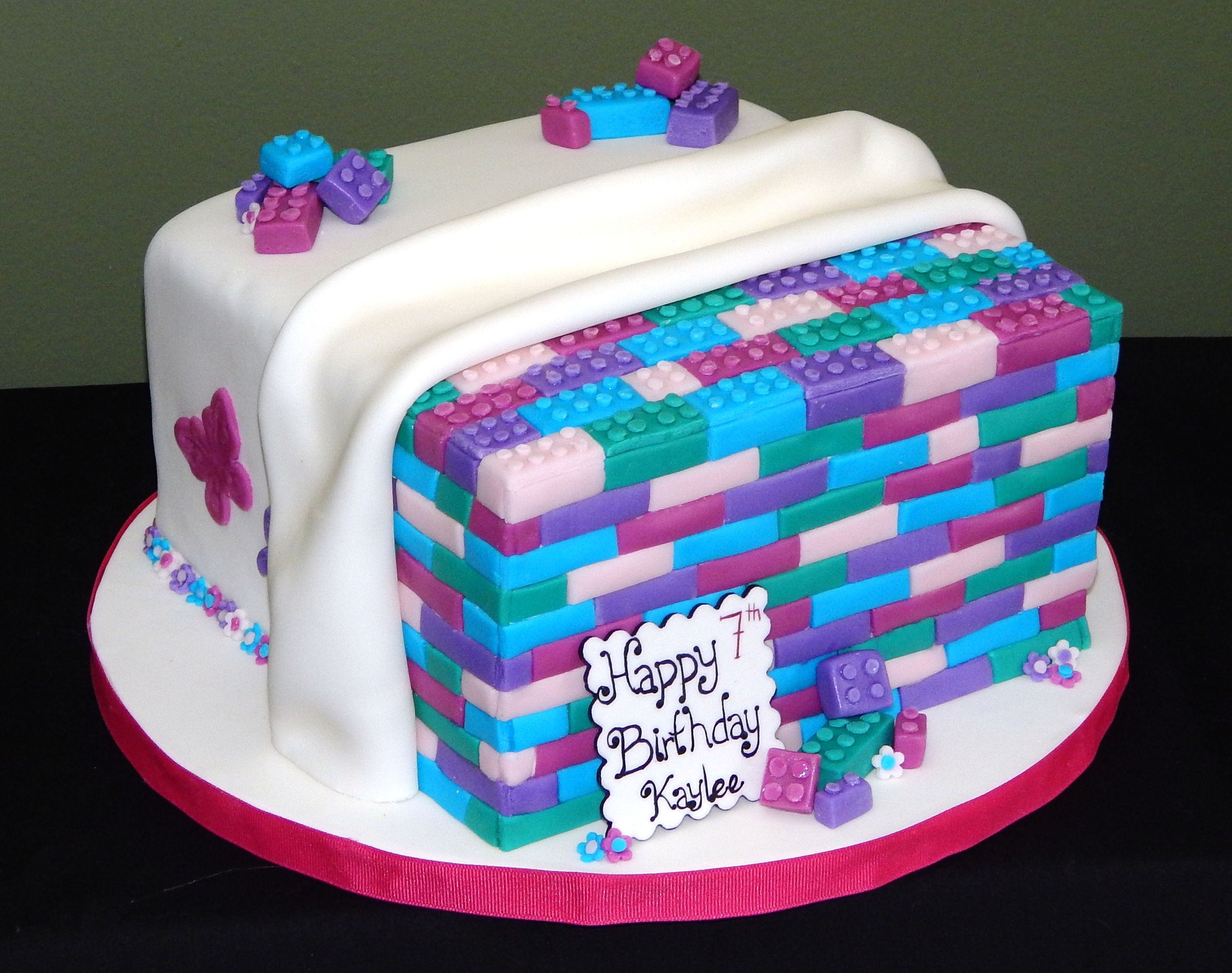 Girl Lego Themed Cake Birthday Cakes Pinterest Lego