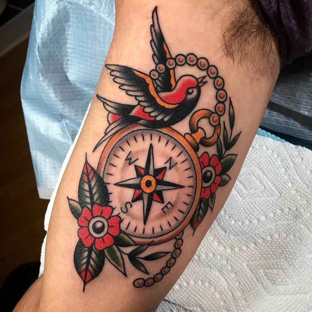 Pin by Sarah Harder on Tattoos Traditional compass