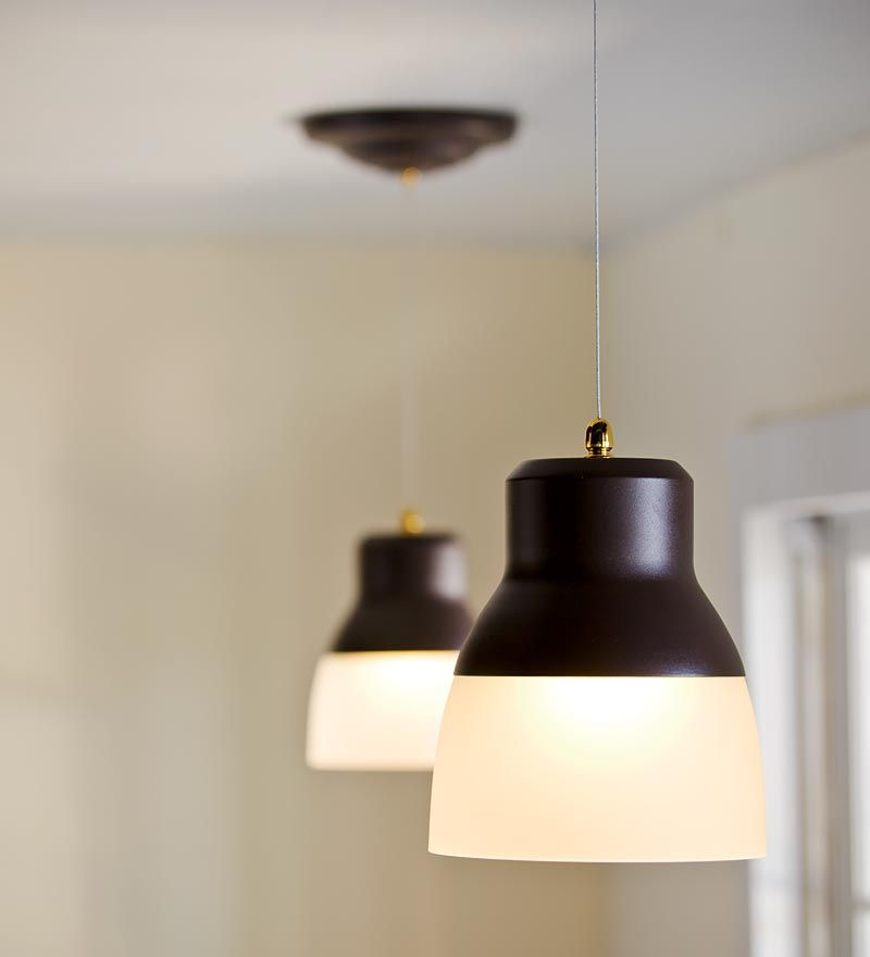 Remote-Controlled, Battery-Operated Pendant Light. No