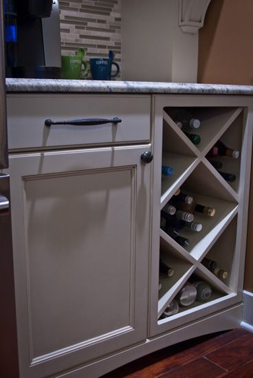 Built In Wine Rack Would Turn Sideways And Put Above Fridge