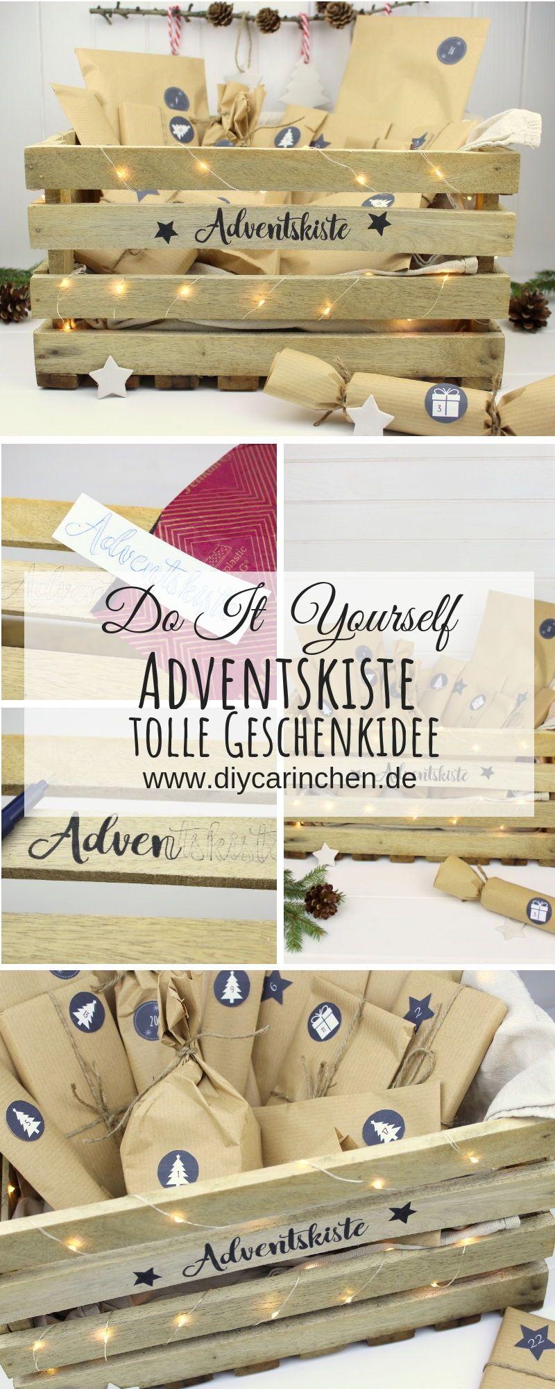 DIY - Adventskiste, Adventskalender in einer Kiste selber machen | DIYCarinchen