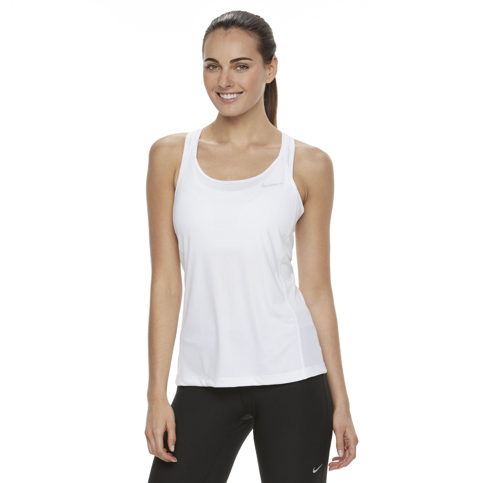 d4662369c9e50 Women s Nike Dri-FIT Mesh Racerback Tank Top