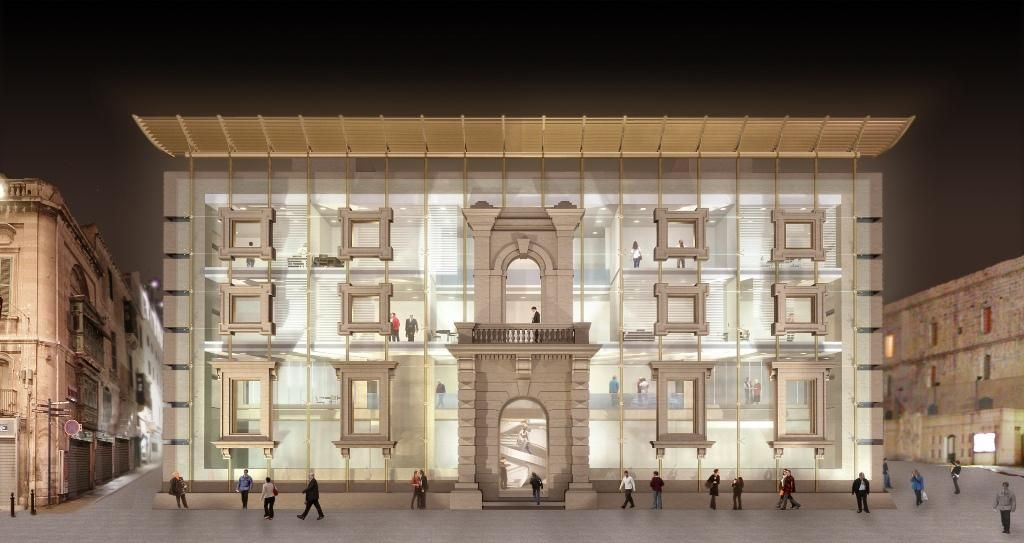The malta parliament project on the old opera house site for Parliament site