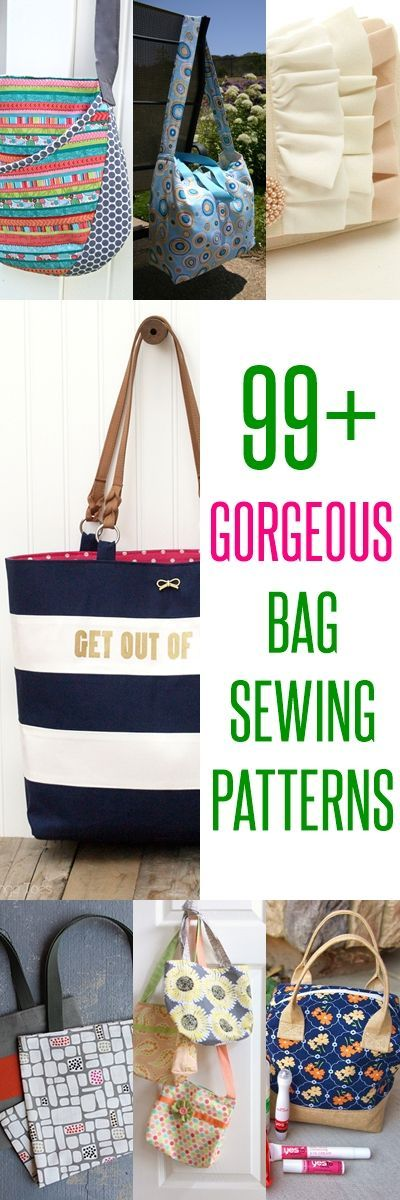 Sew a Bag (100+ free bag patterns and tutorials | Pinterest ...