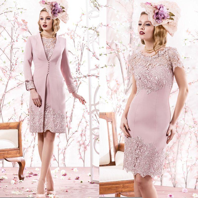 Pink Lace With Jacket 2016 Mother Of The Bride Dress Pant Suits Plus Size Bride Mother Dresses Wedding Wome Kleider Hochzeit Kleid Hochzeitsgast Mutter Kleider