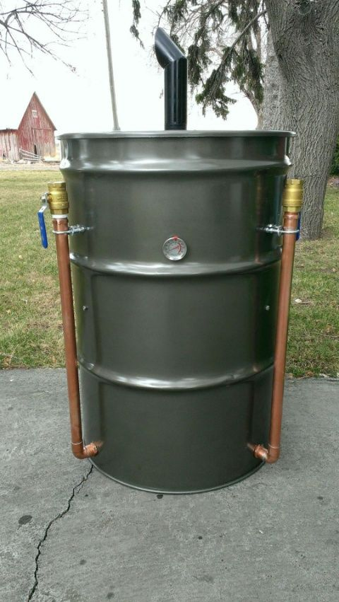 Built In Smoker Outdoor Kitchen: Ugly Drum Smoker. Build Your Own Smoker For Backyard Get
