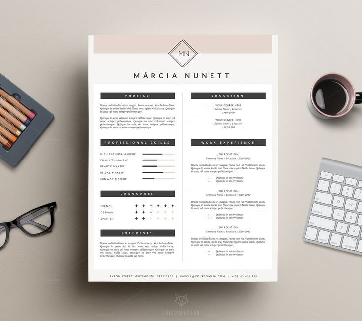 Hipster Resume Template For Word By This Paper Fox On Creative