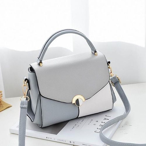 Hit Color Women Leather Bags Ladies Handbag Tote Tophandle Hand Bags Shoulder Messenger Bag Color Black Size 22x9x17cm