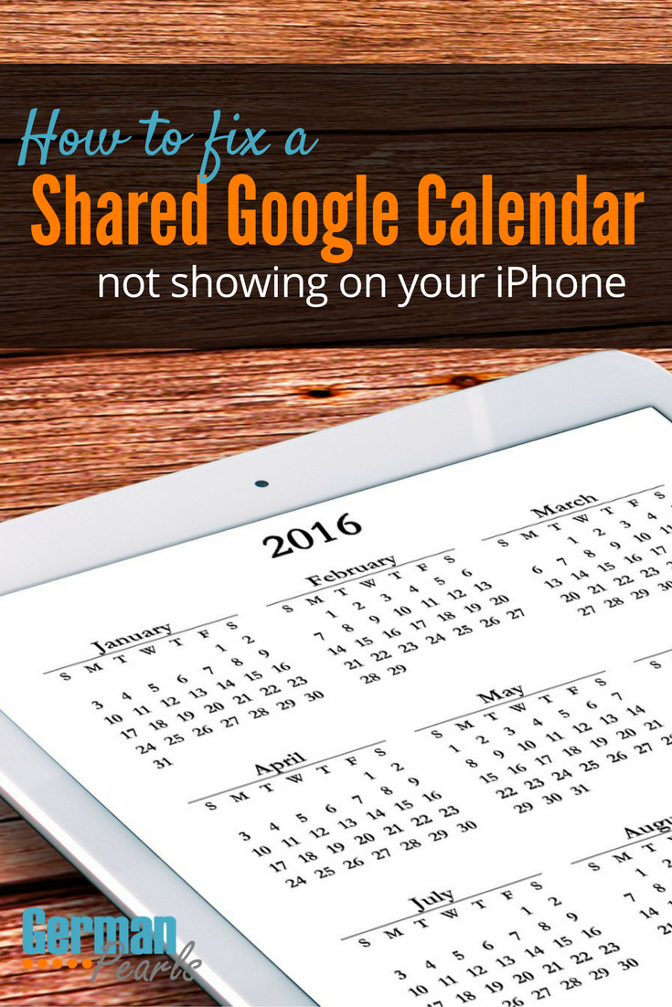 Shared Google Calendar Not Showing on your iPhone Google