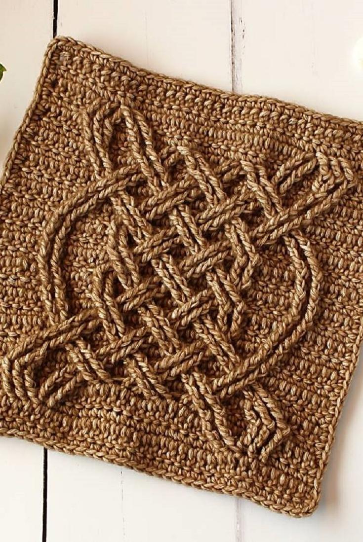 Celtic Tiles Square Video Tutorial | Crochet - YarnHookNeedles ...
