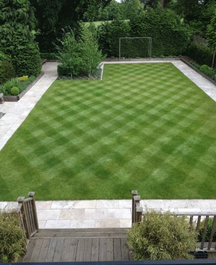 A selection of your striped lawns is part of lawn Care Mowing - A gallery of entries to win an Alletts lawnmower