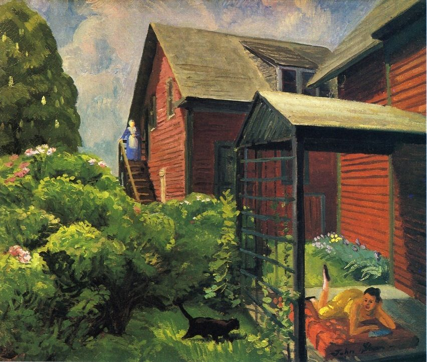 Sally and Paul, Reds and Greens. John French Sloan