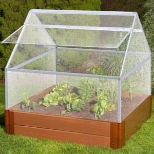 Walmartgreen Frame It All Deluxe Greenhouse Kit And Recycled Resin Raised Garden Bed Raised Garden Beds Raised Garden Greenhouse Kit