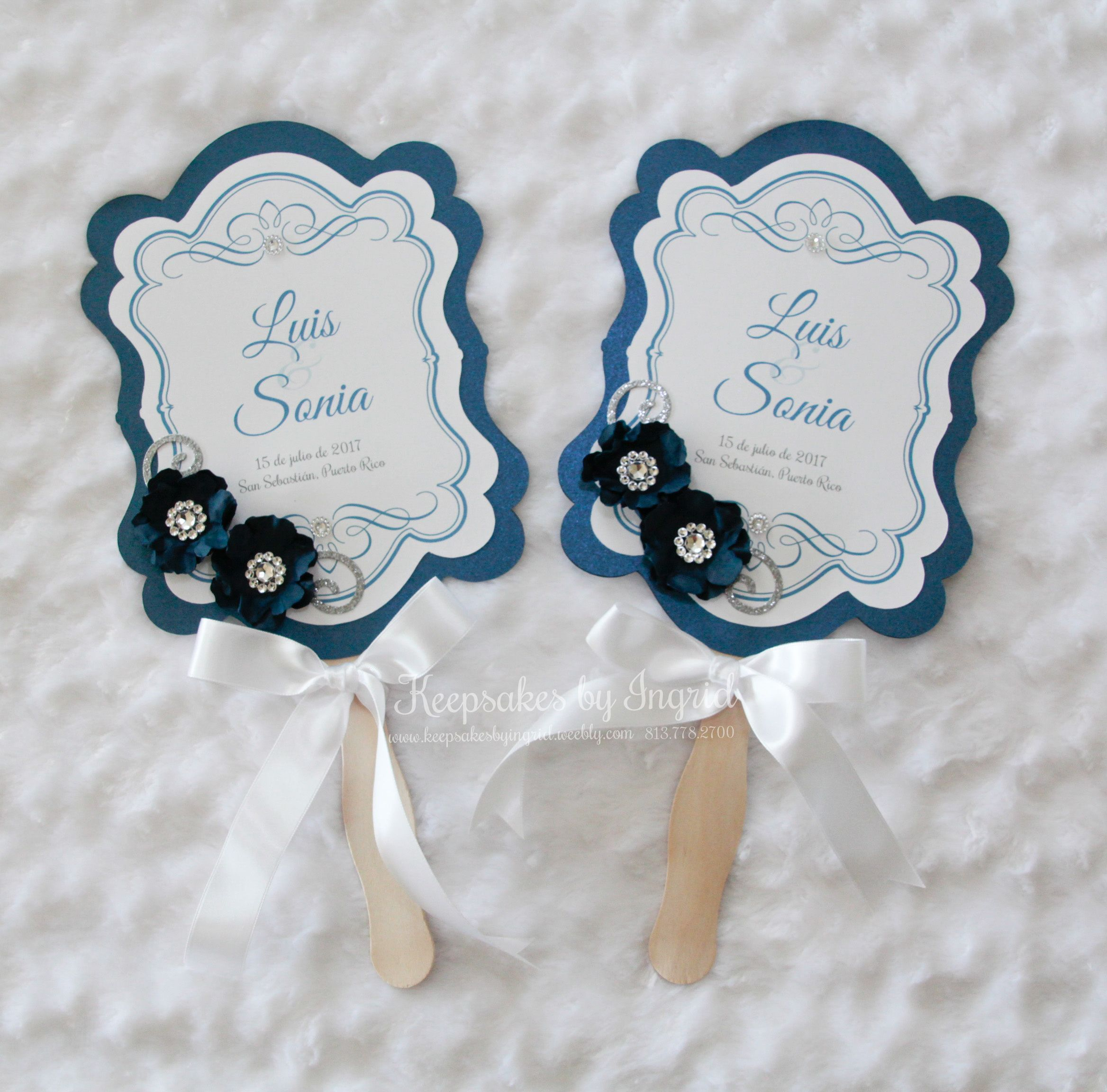 Personalized hand fans for mother of the bride and mother of the ...