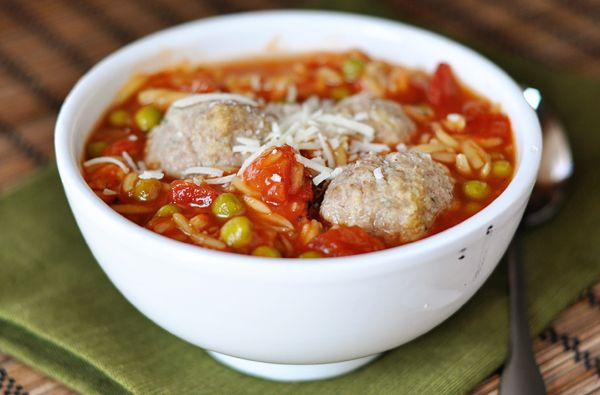 Mel's Kitchen Cafe | Meatball Soup with Pasta
