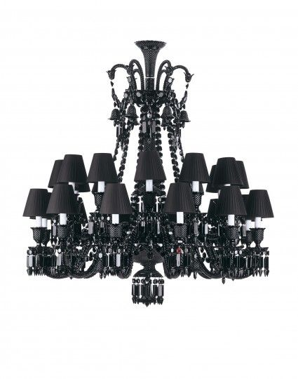 Philippe Starck For Baccarat Zénith Black Crystal Chandelier - Chandelier jewels crystals