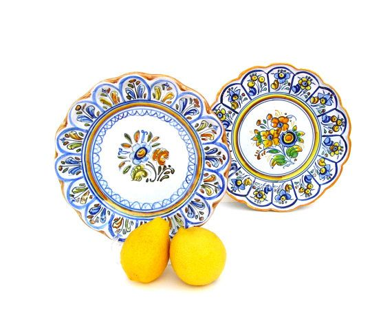 Vintage Talavera Pottery Yellow Amp Blue French Country