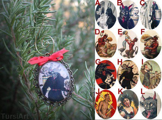 Krampus Christmas Ornament Creepy Holiday Decor Gruss Vom Krampus