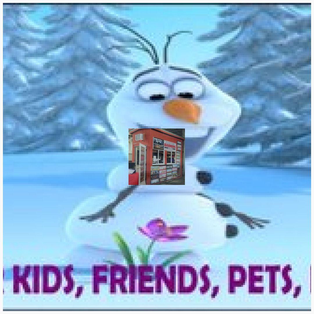 Frozen Birthday Party Frozen Poster Frozen Banner Olaf Frozen Decor Birthday Gift Kids Gift Frozen backdrop #FrozenPoster #FrozenBanner #Olaf ...
