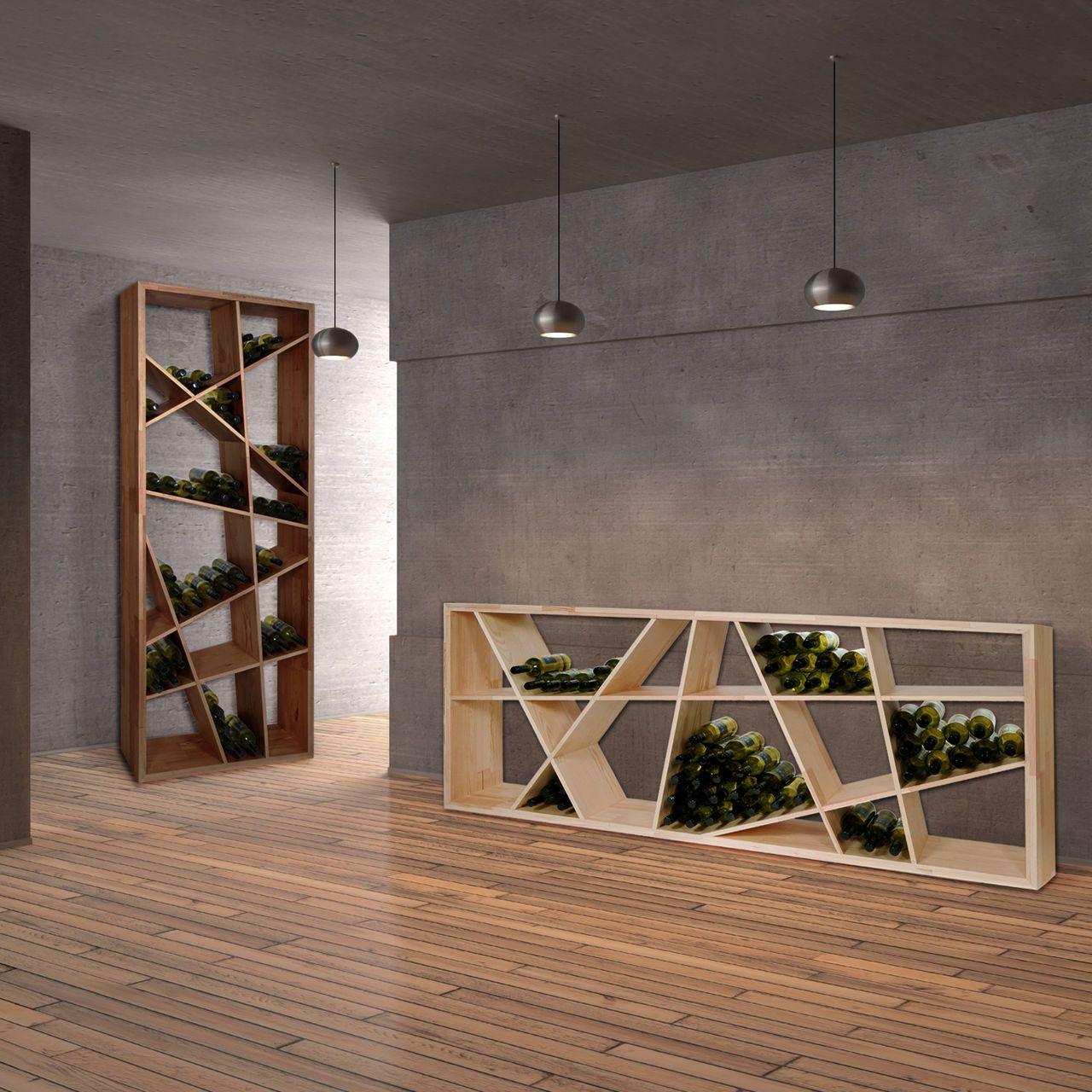 weinregal odin nicht nur f r den weinkeller berall einsetzbar aus eichenholz massiv neben 0. Black Bedroom Furniture Sets. Home Design Ideas