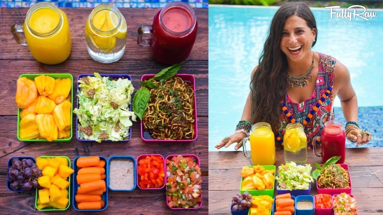 Bento box meal prep raw food diet this is a day of - Garden of life raw meal weight loss plan ...