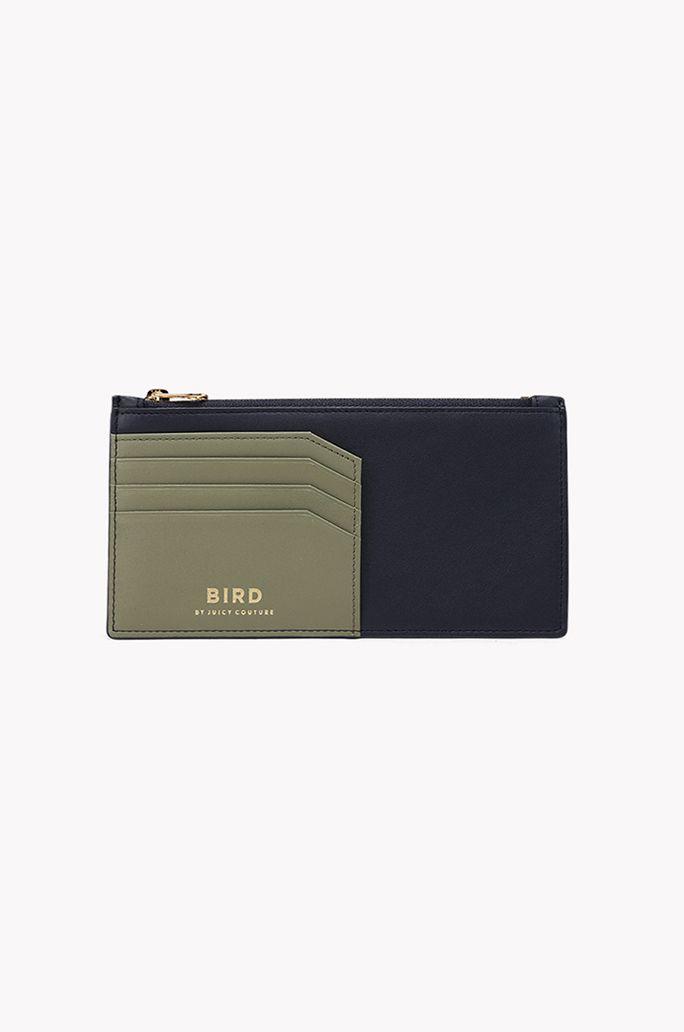 Color combination long card wallet