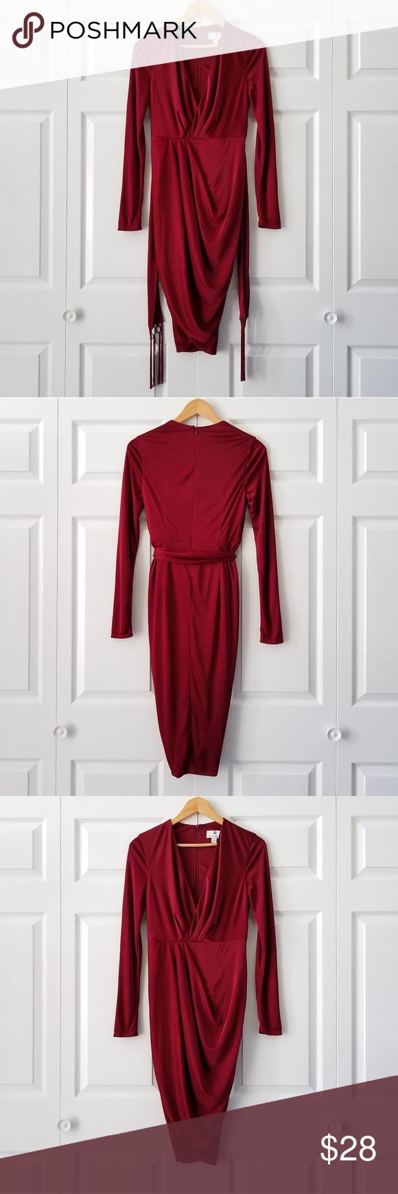 Altuzarra For Target Red Wrap Dress Nwot 4 Red Wrap Dress Red Long Sleeve Dress Wrap Dress [ 1740 x 580 Pixel ]