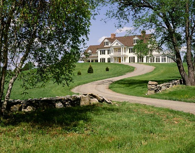 Crisp Architects Beautiful Homes Country Landscaping American Farmhouse