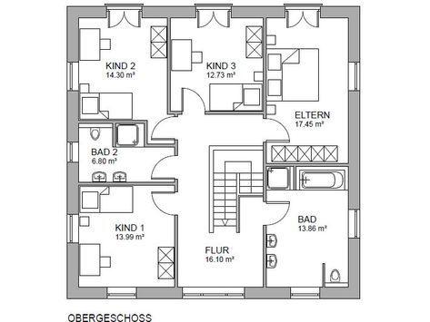 Minimalistische Stadtvilla mit Garage Haus ConceptM 198