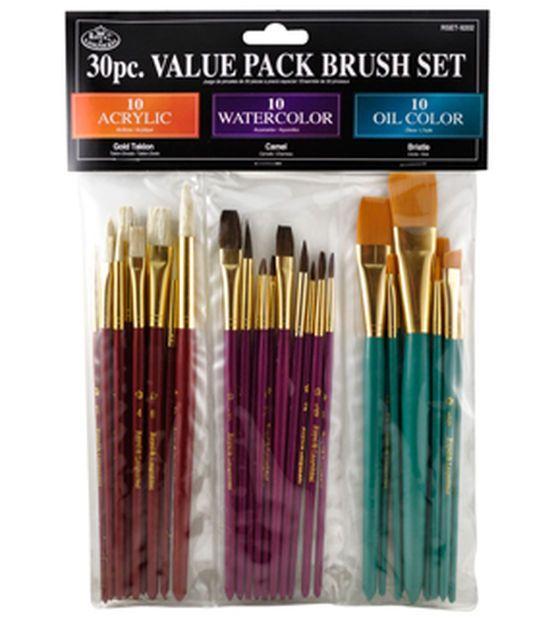 30pc Value Brush Set Paint Brush Art Art Supplies Oil Paint
