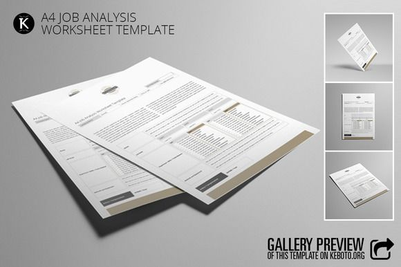 A Job Analysis Worksheet Template Creativework  Templates