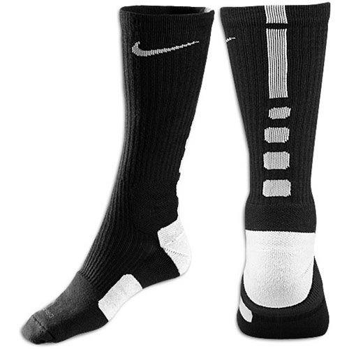 Nike Chaussettes Élite D'oiseaux Moyen Noir Et Blanc