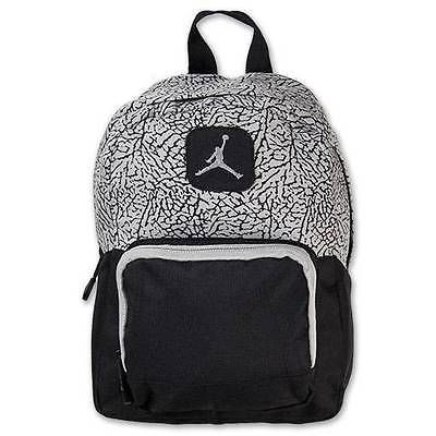 a7971805d6 Nike Air Jordan Backpack Gray Black Toddler Preschool Boy Girl Small Mini  Bag in Clothing