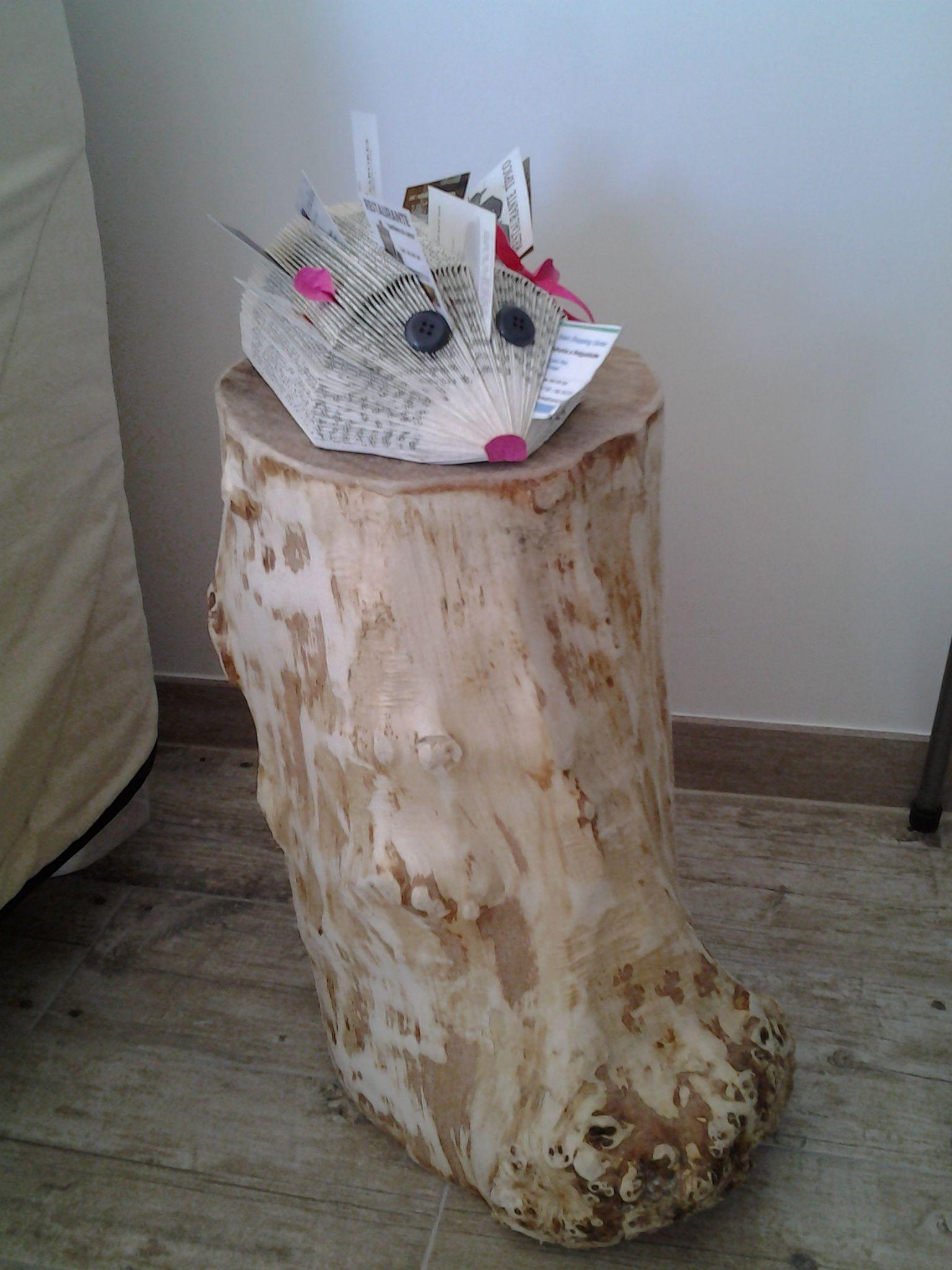 rondin de bois pluch ponc sert de table de chevet ou - Table De Nuit Rondin De Bois