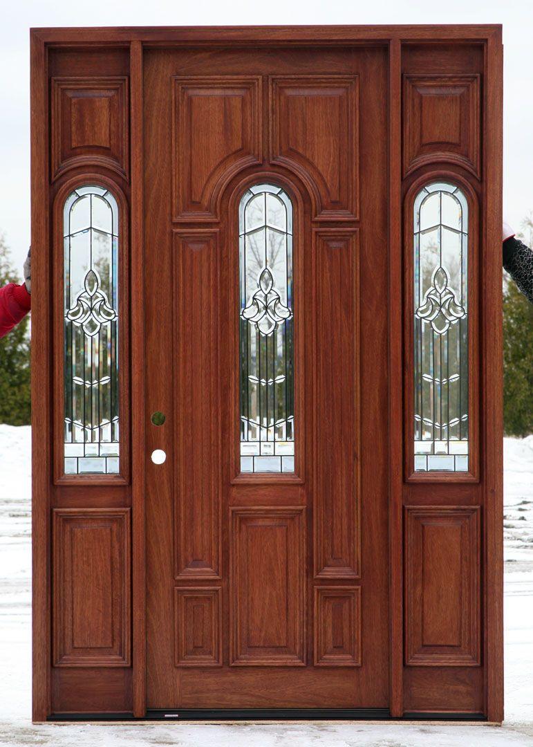 front entrance doors with glass design raised mouldings on both sides of exterior door. Black Bedroom Furniture Sets. Home Design Ideas