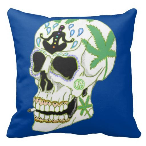 Enlightenment Skull Square Throw Pillow