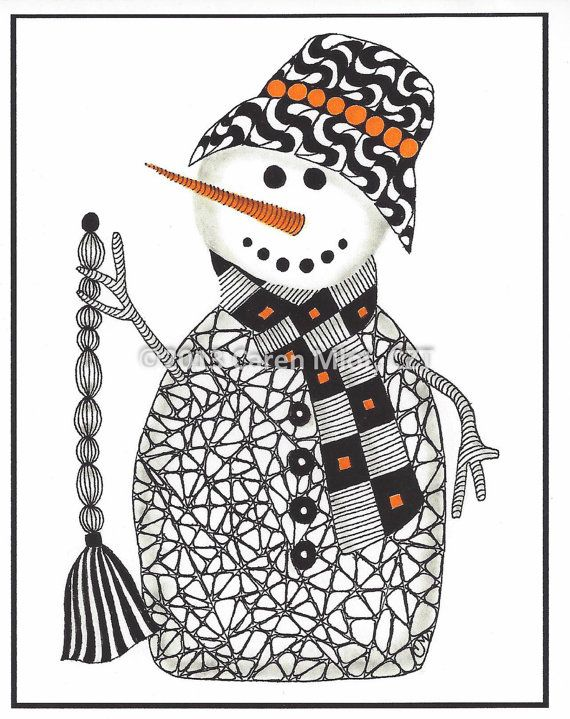 Zentangle Christmas Cards 5 x 7 inch glossy cards by ...
