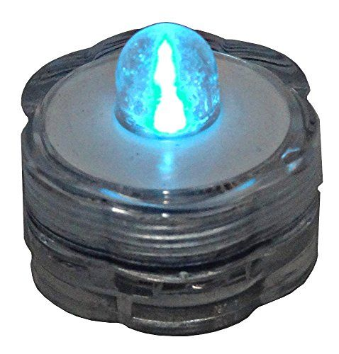 Blue Dot Trading 20Piece Submersible Teal LED Tea Lights20 Lights in