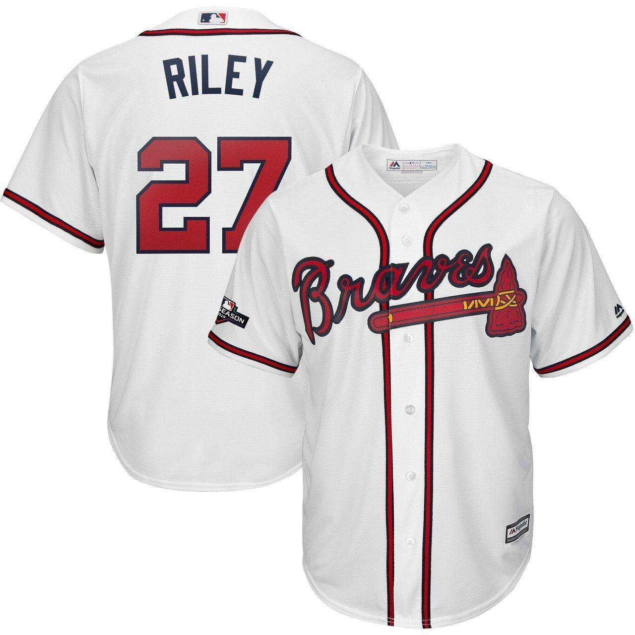 Austin Riley Atlanta Braves 27 Jersey White In 2020 Atlanta Braves Jersey Braves Jersey Atlanta Braves